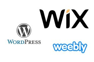 wordpress or wix or weebly