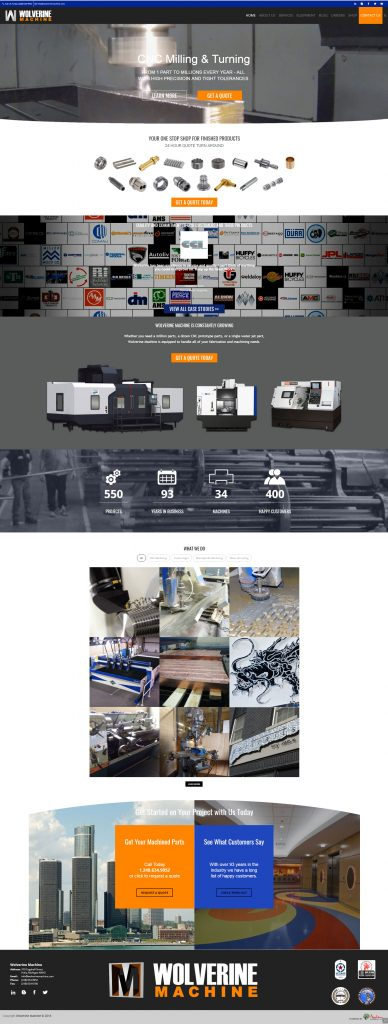 Wolverine Machine Developed Website